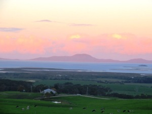 Watching the sun go down over Wilson's Promontory...
