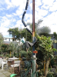 Whimsical garden art makes a conservation point