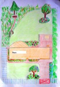 A simple plan for a basic garden - so easy a child could draw it!