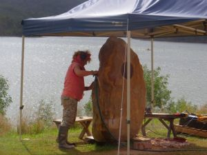 Sculptures at Lake Wyaralong